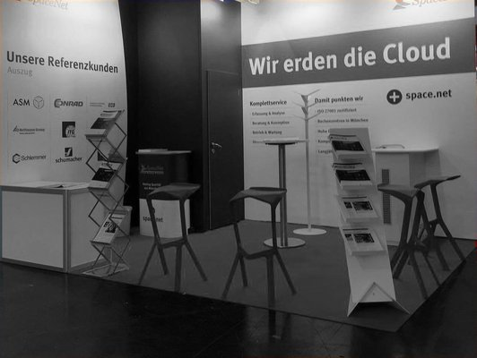 Messestand der SpaceNet AG